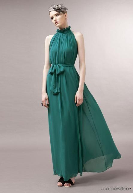 Damen Bohemia Chiffon Neckholder Fashion Designer asymmetrische Kleider (lang) – Products