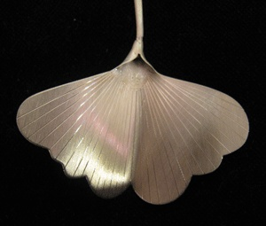 http://www.coolstoregallery.co.nz/RuthBaird2.htm  $168 NZD  Stirling silver Gingko leaf Pendant