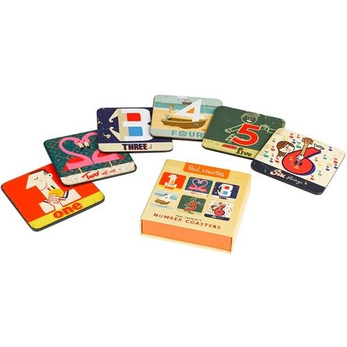 Set of Numbers Drink Coasters by Paul Thurby