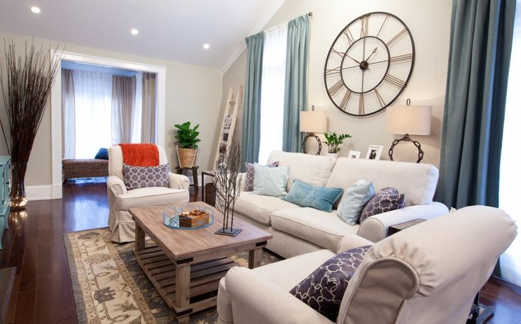 We love the serenity of this room - and the comfy couch! #homedecor #propertybrothers #diyhome