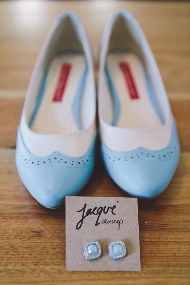 #bride #blue #vintage #shoes #modcloth #earrings