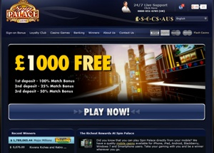 Spin Palace, home to the most amazing slots games online