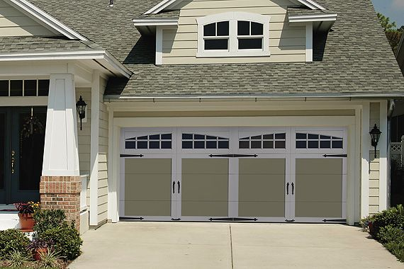 Garage door makeover    http://www.houselogic.com/home-advice/garages/garage-doors-guide-options/