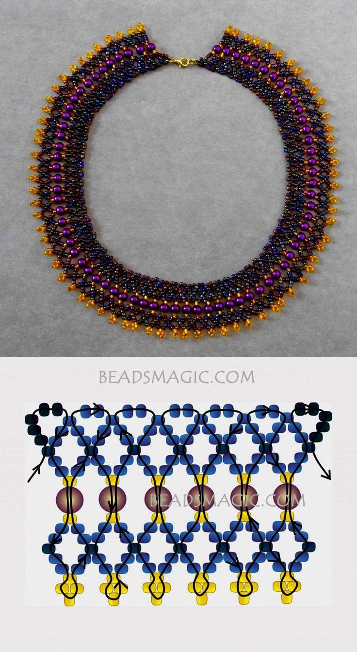 Schlüsselbeinlänge Halskette   Peter Pan Kragen Halskette Muster über Silberkette …   – Collar Necklace