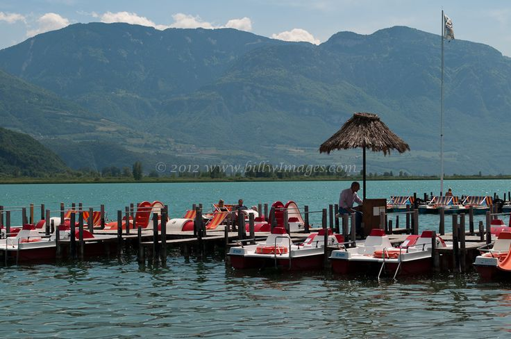 Lake Kaltern in Northern Italy. Photo taken from the grounds of Hotel SeeGarten.