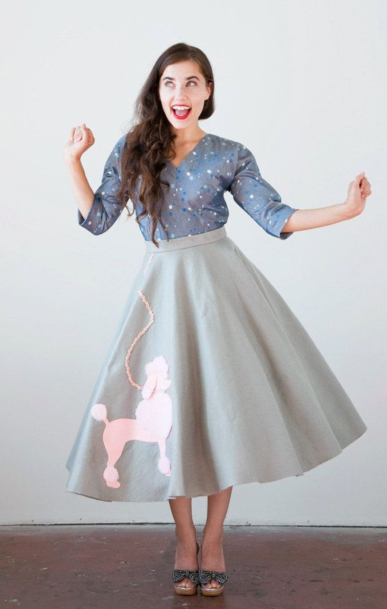 how to wear a poodle skirt the vintage solution