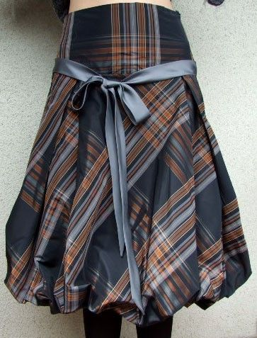 Glamorous puffy taffeta skirt baloon skirt copper and by couvert