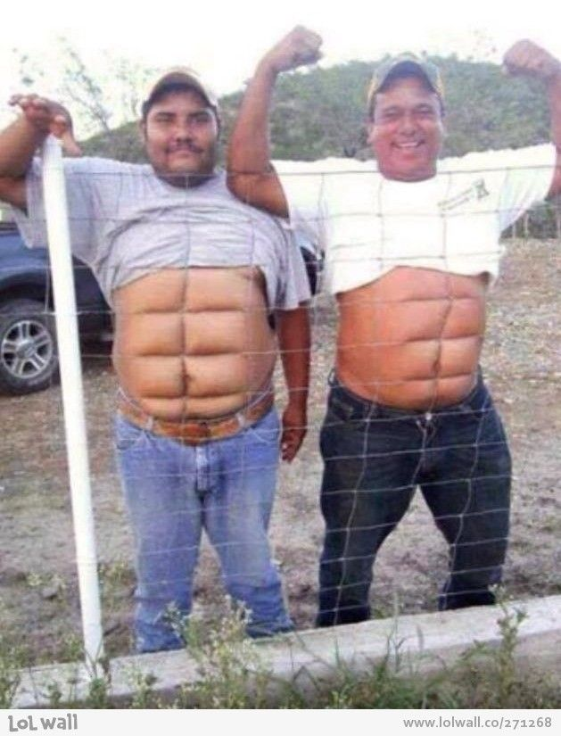 Oh my goodness, I laughed so hard! Such definition on those six-pack abs!