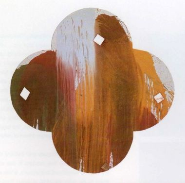Max Gimblett, Rose, 1994. Acrylic polymer, pearlescent and metallic pigments on canvas, 228.6cm diameter. Collection of the artist.   Interview with the artist in Eyeline contemporary visual arts, issue 35.