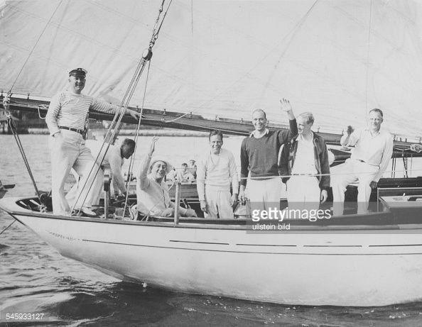 F.D. Roosevelt, Politiker, USA, Präsident, beim Segeln : News Photos