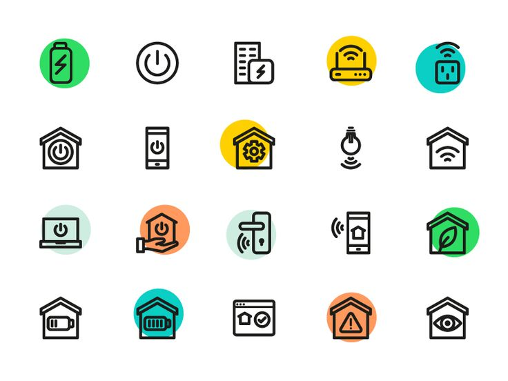 Smart Home Icons by Sooodesign