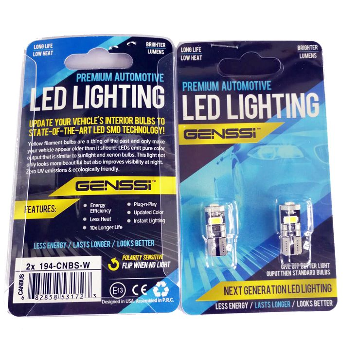 LED car bulb 194 2SMD super bright 2835 SMD chips. Also fits T10 Wedge Type Auto LED Bulbs, W5W, 147, 152, 158, 159, 161, 168, 184, 192, 193, 194 2825