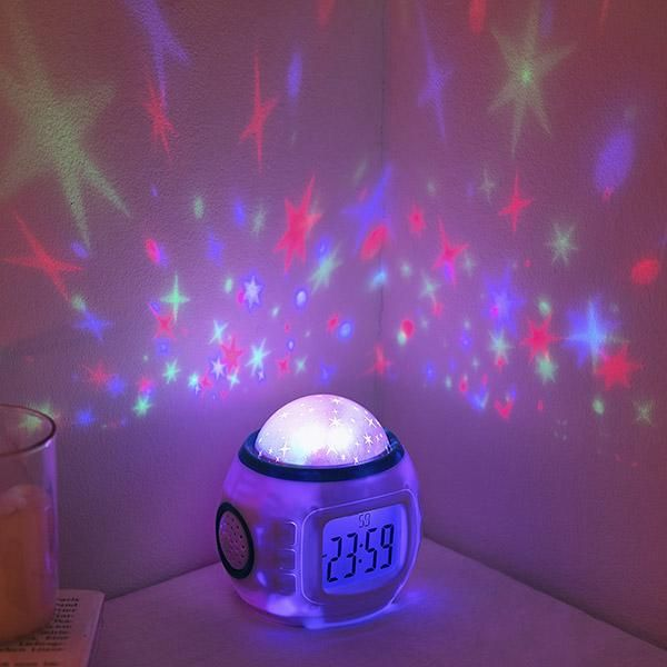 Self Rotating Constellation Night Projector Lamp Bring The Galaxy Home With Images Starry Night Sky Projector Lamp Alarm Clock