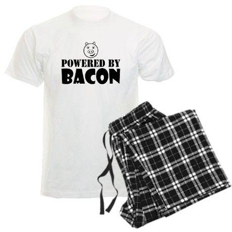 Powered By BACON FUNNY Pajamas on CafePress.com