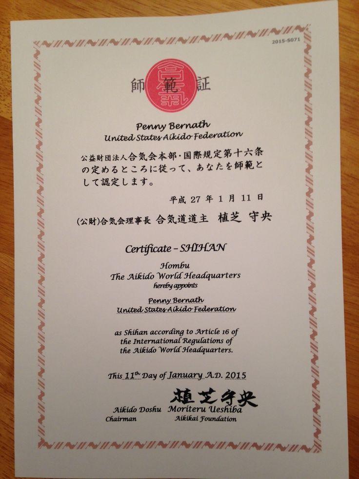 11 best penny bernath aikido photos images on pinterest aikido shihan certificate yelopaper Gallery