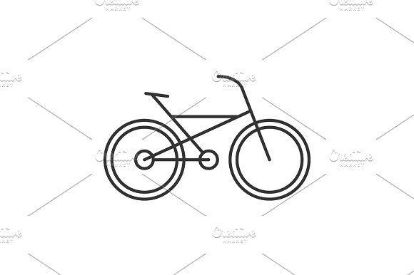 Bike Linear Icon Icon Line Illustration Icon Design