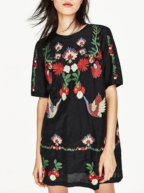 Mini Vestido Bordado Floral - Compre Online | DMS Boutique