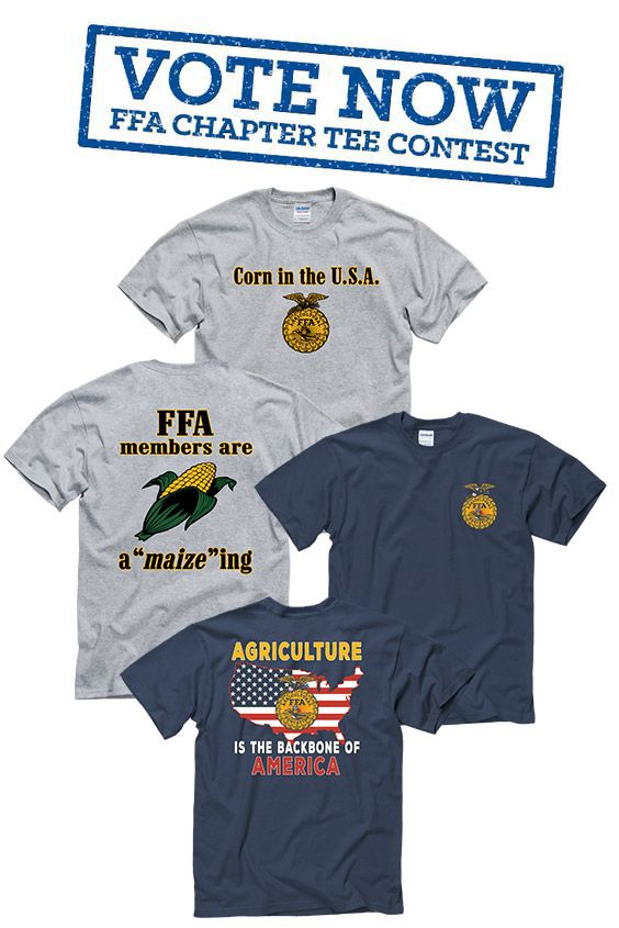 2017 FFA Chapter Tee voting is LIVE! Pick your faves today.