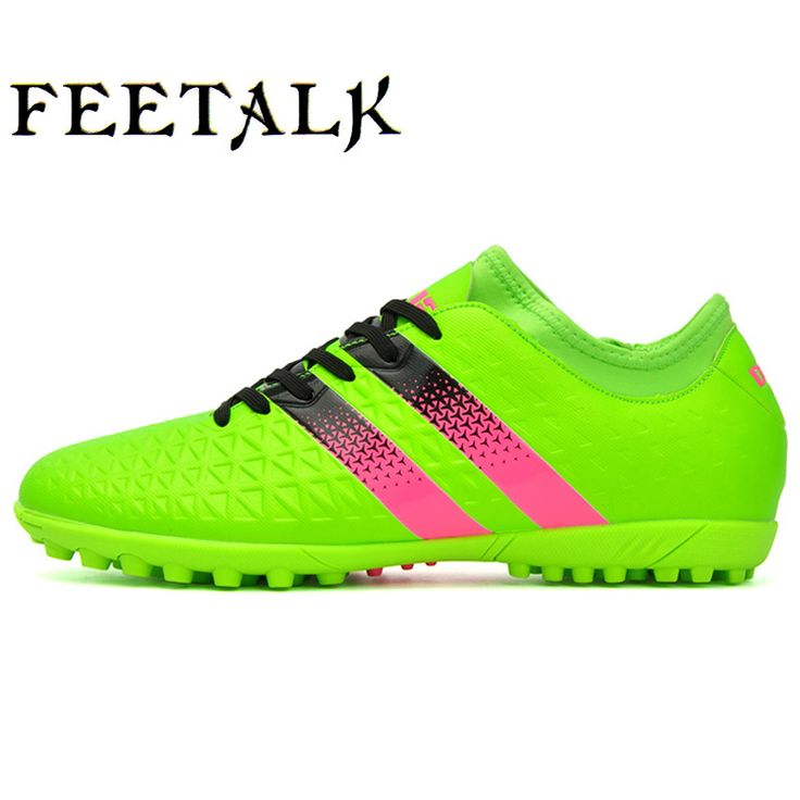 2016 Mens Indoor Futsal Soccer Boots High Ankle TF Turf HG FG Professional Football Boots Kids Training Training Game Shoes #Affiliate