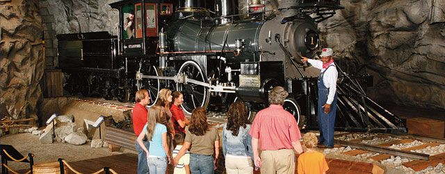 The train museum in Old Town Sacramento