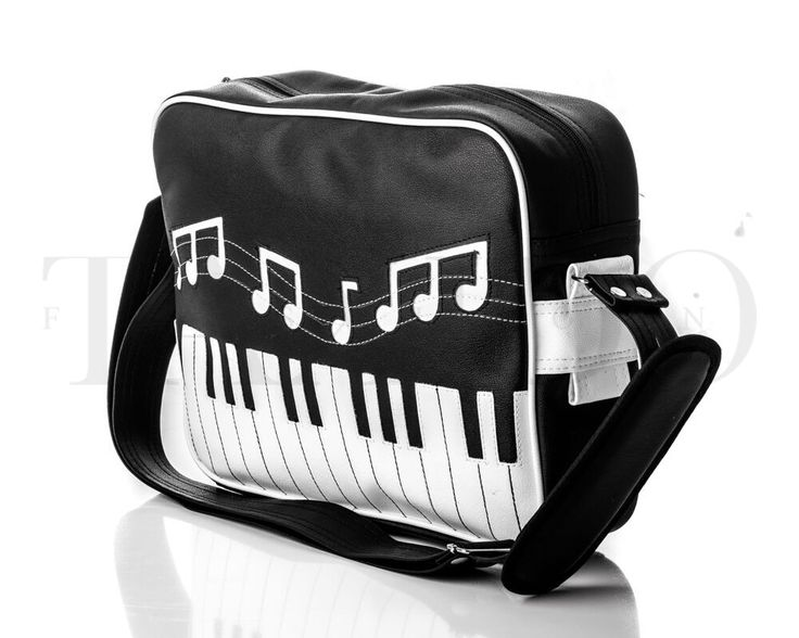 Pánská taška přes rameno - Piano, černá