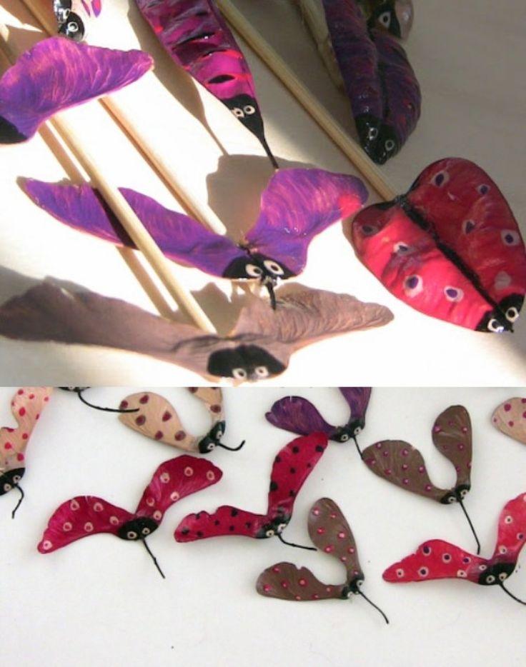 Der Nagellack härtet die Blätter und verleiht ihnen Glanz – Kids Craft • Leaves • DIY • Basteln • Natur • Blätter • Herbst
