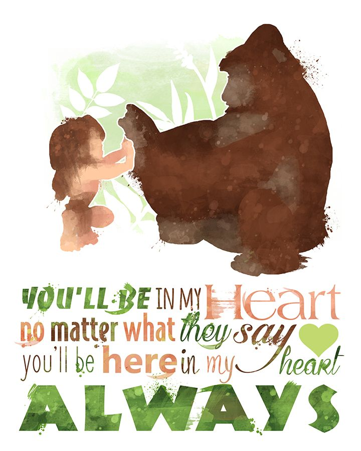 Tarzan You'll Be in my Heart 8x10 Poster - DIGITAL DOWNLOAD / Instant Download                                                                                                                                                                                 Más