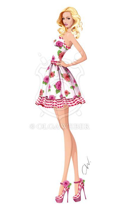 Μόδα εικόνα: καλοκαιρινό φόρεμα με * Ollustrator για deviantART