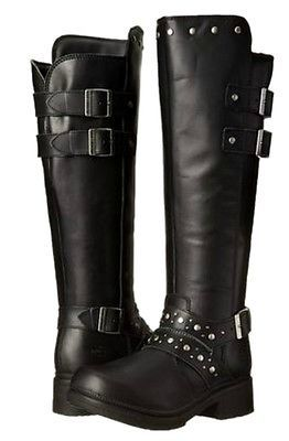 "Harley-Davidson® Women's 15"" HOPE Tall Zip-up Leather Motorcycle Boots D83734"