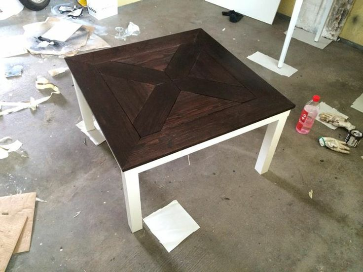 DIY Ikea hack Lack table  House Ideas  Pinterest