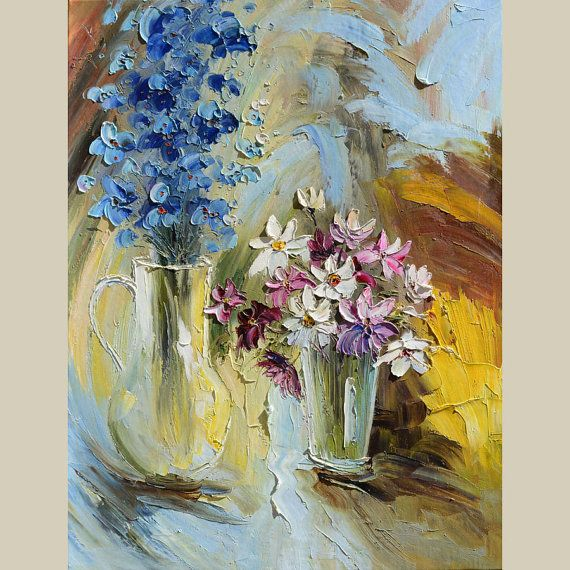 ORIGINAL Oil Painting Flowers from the Garden 30 X 23 by decorpro, $235.00