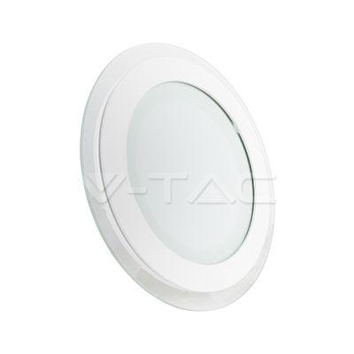 20,54€ 12W Pannello LED mini Vetro Rotondo Cambia colore  SKU: 4836 | VT: VT-1204G-RD