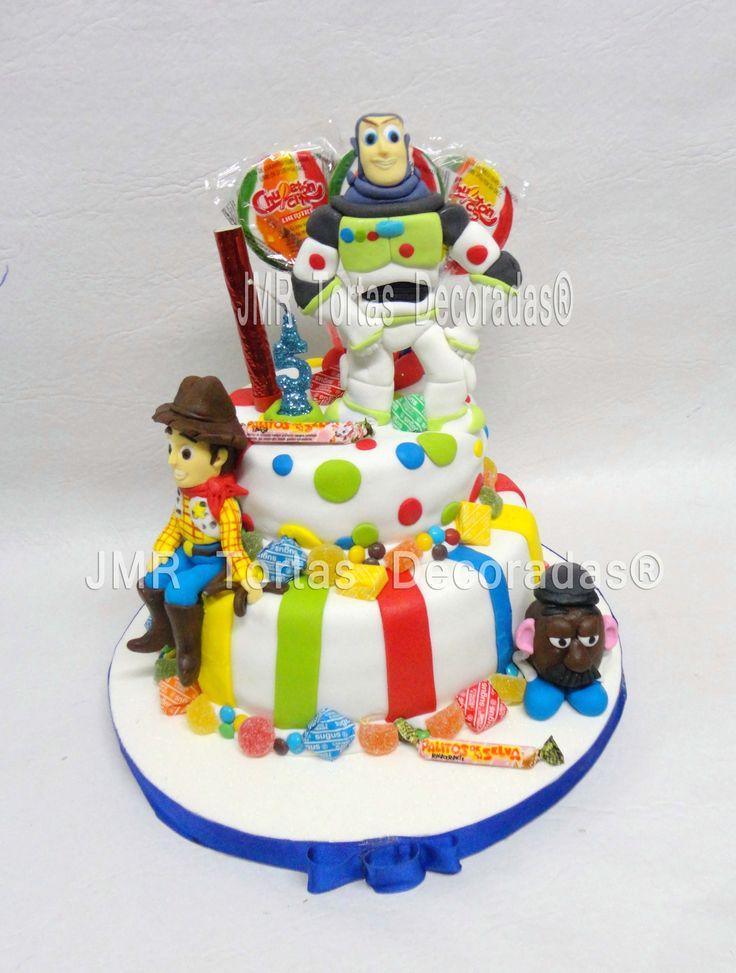 Torta de toy story con golosinas