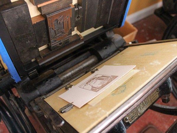 Letterpress Plate In The Press At Pressbound