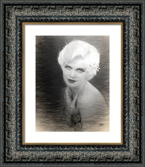 #Jean #Harlow Drawing Framed Print By Quim Abella