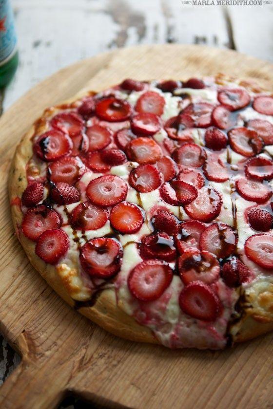 Strawberry & Pepper Jack Focaccia Pizza | MarlaMeridith.com
