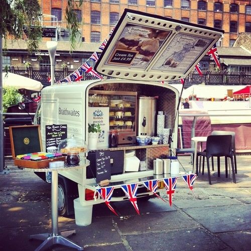 London mobile tearoom - If I get desperate I could make this work in a trolley LOL