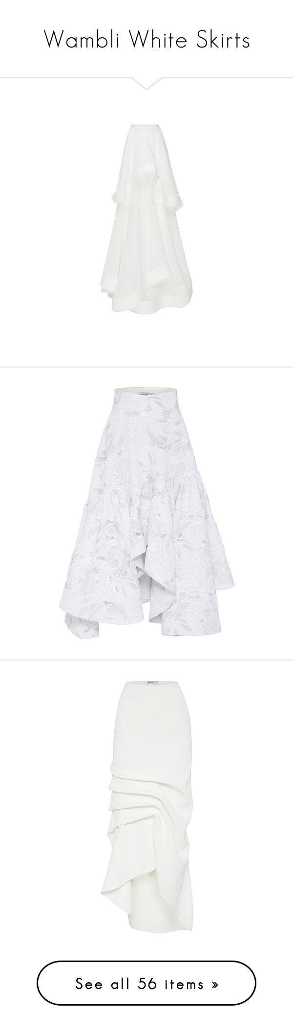 """""""Wambli White Skirts"""" by wambliwakan ❤ liked on Polyvore featuring skirts, white hi lo skirt, white high low skirt, pleated high low skirt, pleated skirt, white full skirt, zipper skirt, long white skirt, white maxi skirt and white skirt"""