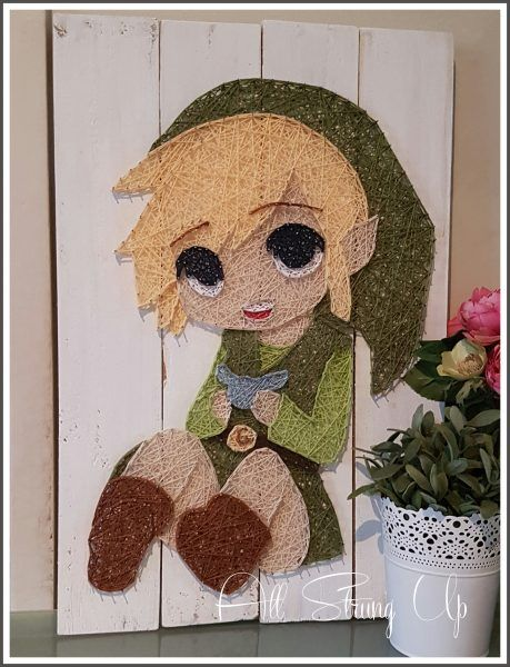 Link - Zelda - String art - All Strung Up