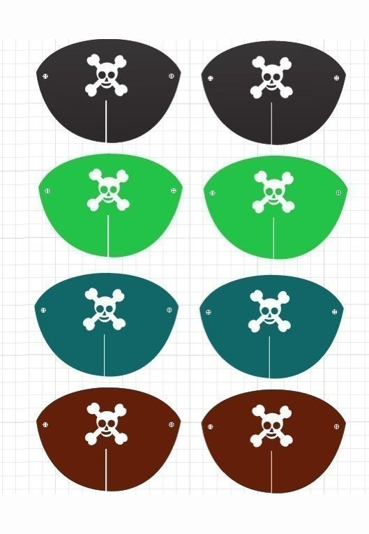 DIY, eye patches.  Pirate Party Hats / eye patches / parrot (Printable PDF). $5.26, via Etsy. EYE PATCHES!!!!