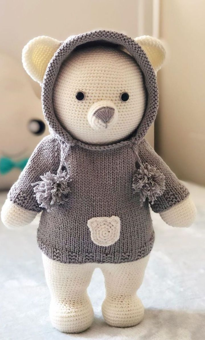 Cuddle Me Bear amigurumi pattern - Amigurumi Today | 1195x720