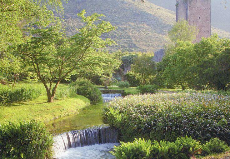see the Ninfa Gardens in Lazio