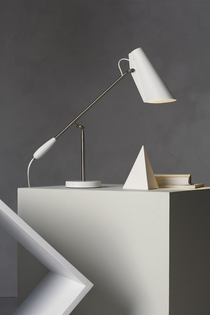 Unique Birdy Table lamp Dahl White Brass by Northern Lighting
