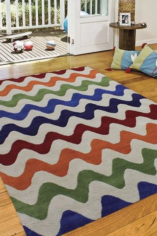 Offspring Squiggle Handtufted Rug, in Multiple Sizes & Colours - Complete Pad ®