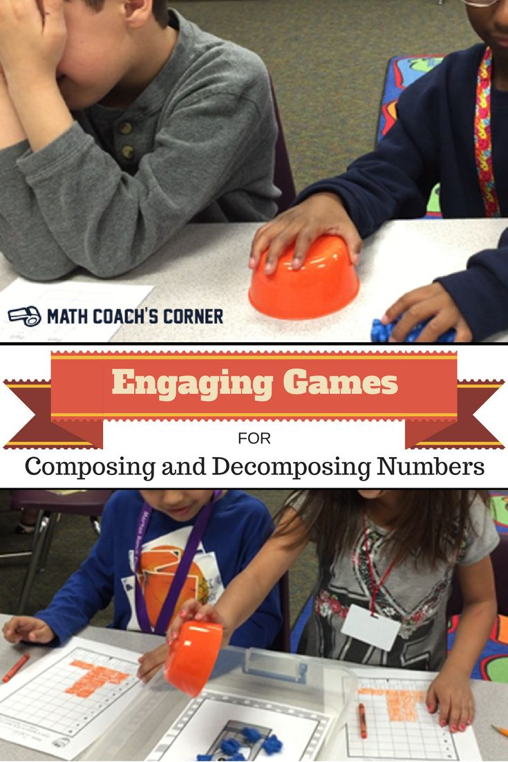 Students LOVE these three great games for practicing composing and decomposing!