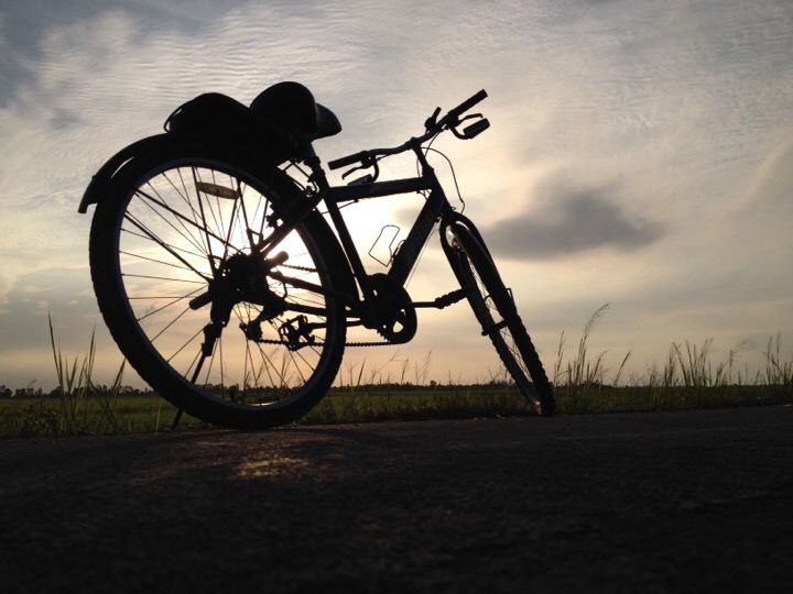 My Bike at Pak Pli , at the end of the day.