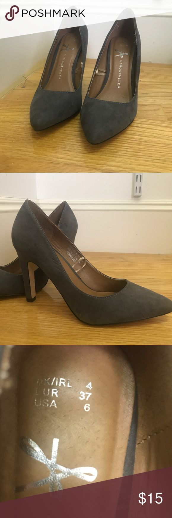 Gray suave heels from Primark Only worn twice, still in great condition! Primark Shoes Heels