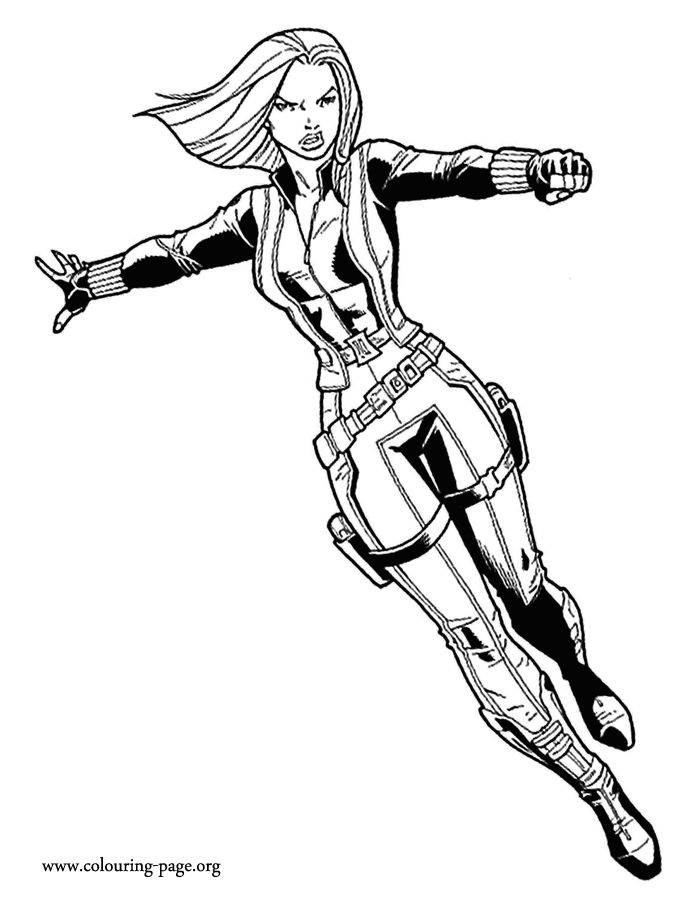 come check out this picture of black widow she is a character from the movie free coloring sheetscoloring