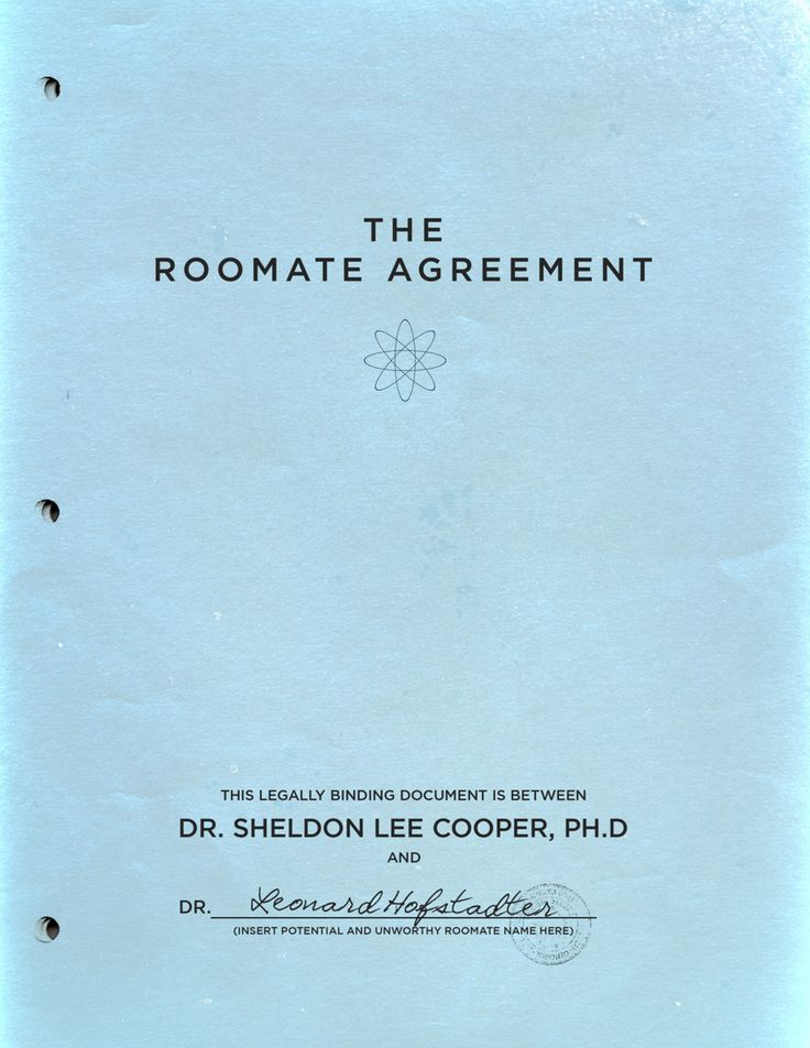 The Roomate Agreement
