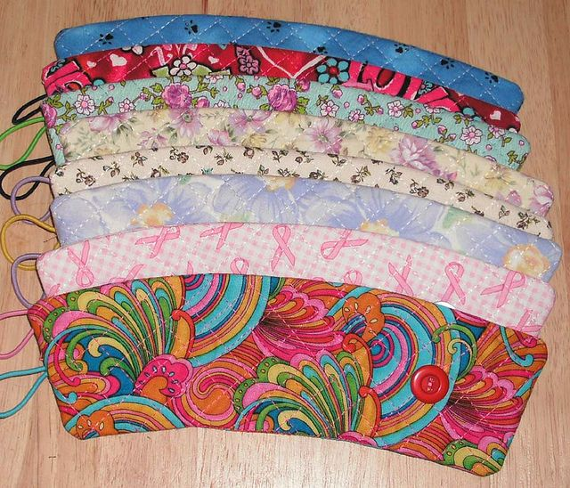 Quilted Coffee Cup Cozies - great way to keep the coffee warm and your hands cool... or visa-versa.